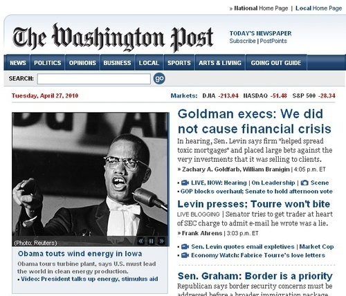 Washington Post Mistakes Malcolm X  for Obama