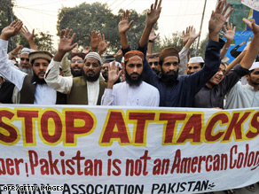 anti-U.S. protests in Pakistan