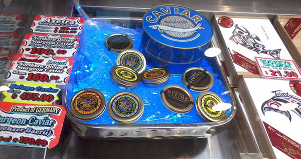 first time eating caviar, seafood city store
