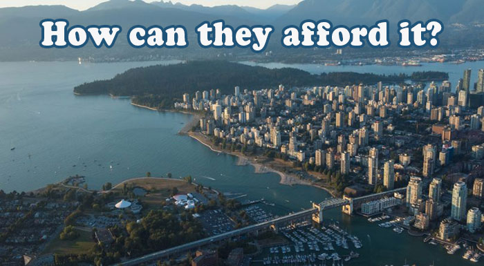 how people can afford to buy expensive real estate in Canada