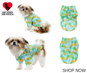 Pineapple Luau Hawaiian Camp Dog Shirt