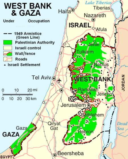 Israel occupied by violent Arab terrorists.