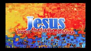 Jesus oves the little children