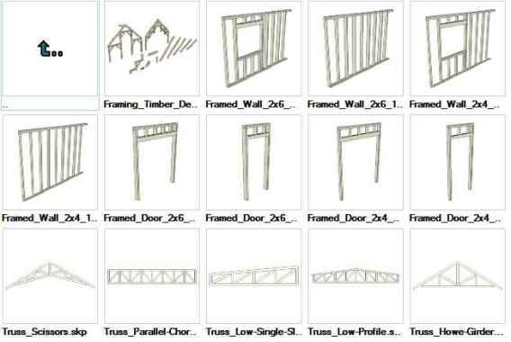 Sketchup Wood Framing 3D models download