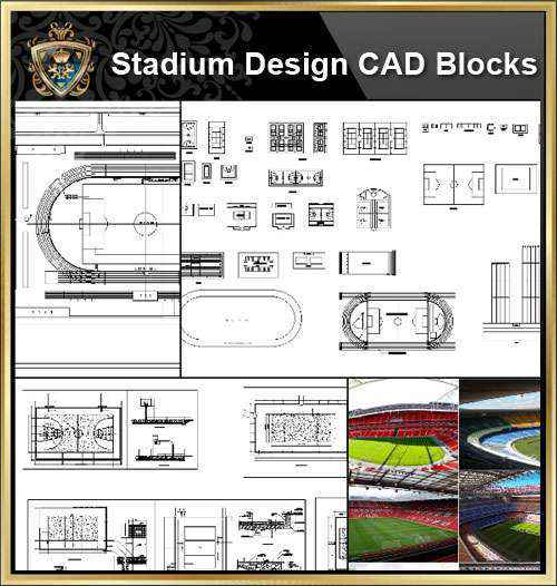★【Stadium CAD Blocks-Stadium,Gymnasium, track and field, playground, sports  hall】@basketball court, tennis court, badminton court, long jump, high