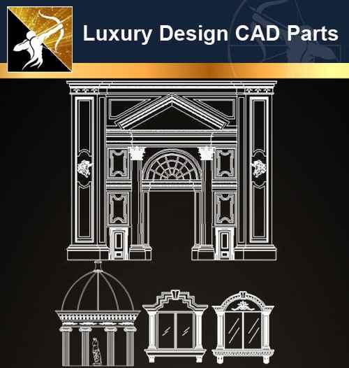 ★【Architecture Decoration Design Element CAD Blocks V.1】@Autocad Decoration Blocks,Drawings,CAD Details,Elevation