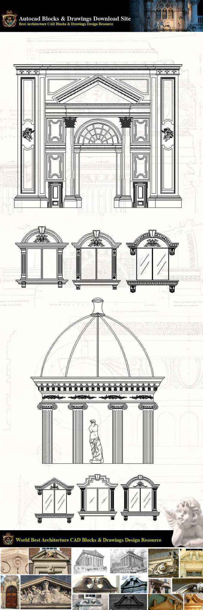 ★【Neoclassical Style Decor CAD Design Elements V 3】Neoclassical interior,  Home decor,Traditional home decorating,Decoration
