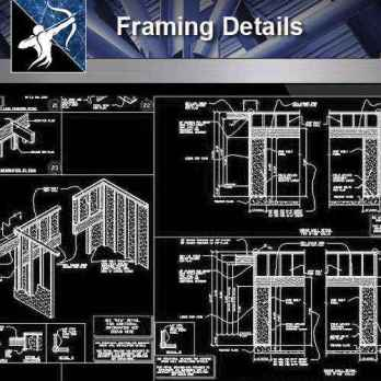 【Architecture CAD Details Collections】Framing CAD Details Collection
