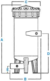 Harmsco Hurricane Single Filter Housings, 50 GPM