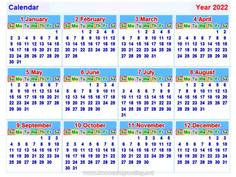 Calendar2022