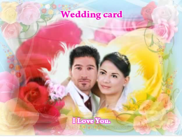 Wedding Card Make Use Background Is A Rose Or Your And Transparency Over The Image With Border 5 Picture Frame