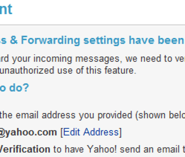Verify The Mail Forwarding Email Account