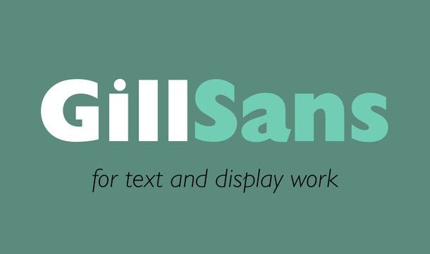 Gill Sans Font Free Download