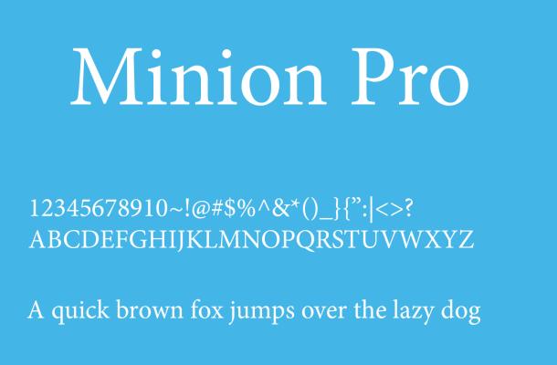 Minion Pro Font Free Download