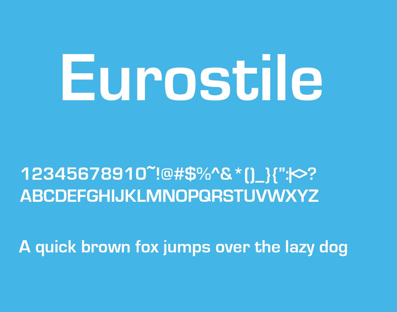 eurostile font style