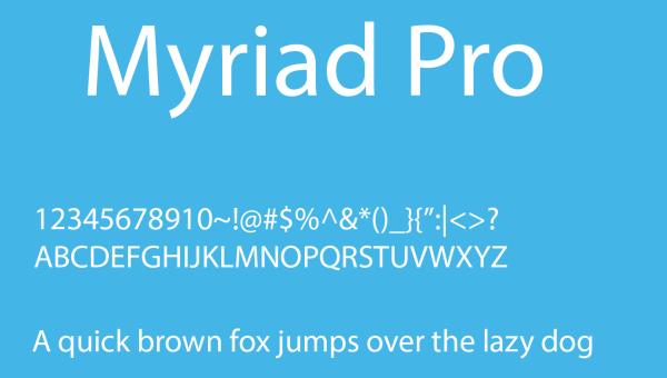Myriad Pro Font Free Download