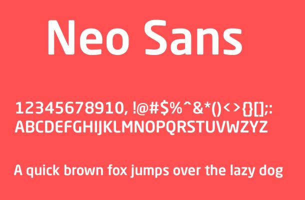 Neo Sans Font Free Download