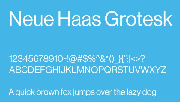 Neue Haas Grotesk Font Free Download