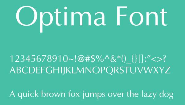 Optima Font Free Download