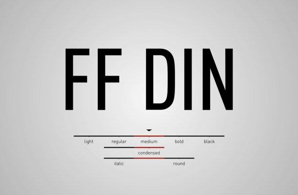 FF DIN Font Free Download