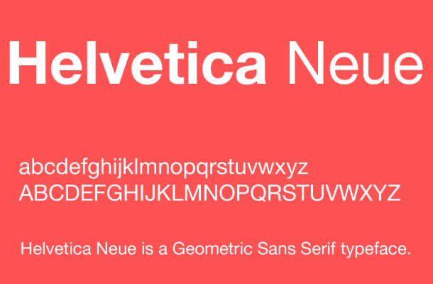 Helvetica Neue Font Free