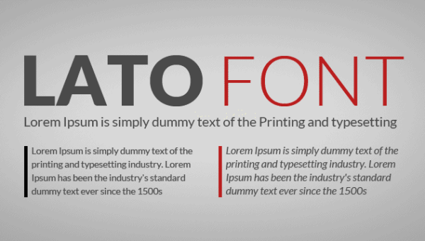 Lato Font Family Free Download