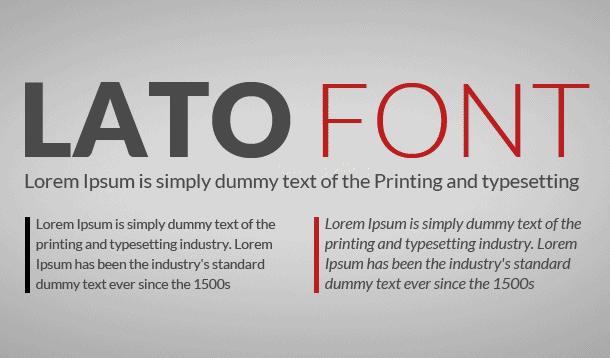 Lato Font Family Free Download