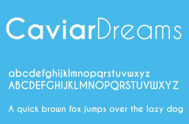 Caviar Dreams Font Free Download