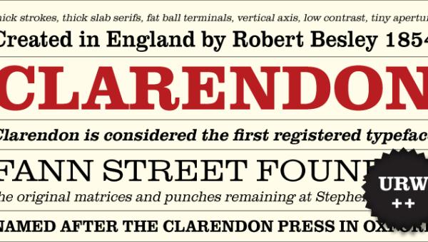 Clarendon Font Free Download