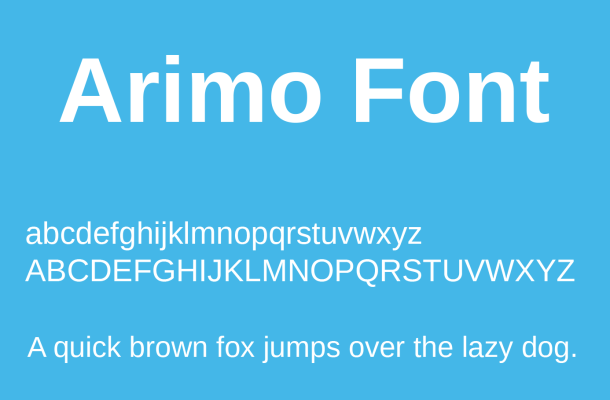 Arimo Font Family Free Download
