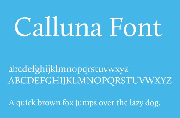 Calluna Font Free Download