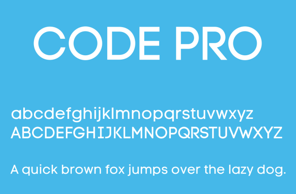 Code Pro Font Free Download