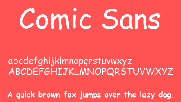 Comic Sans Font Free Download
