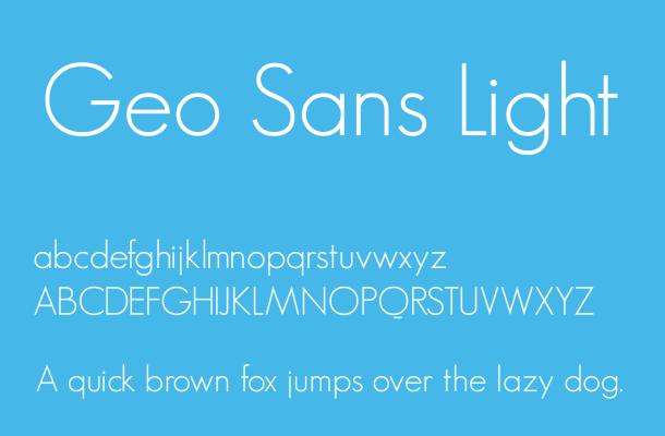 Geo Sans Light Font Free Download