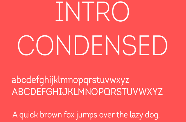 Intro Condensed Font Free Download