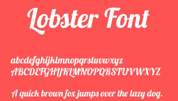 Lobster Font Free Download