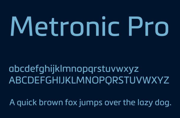 Metronic Pro Font Free Download