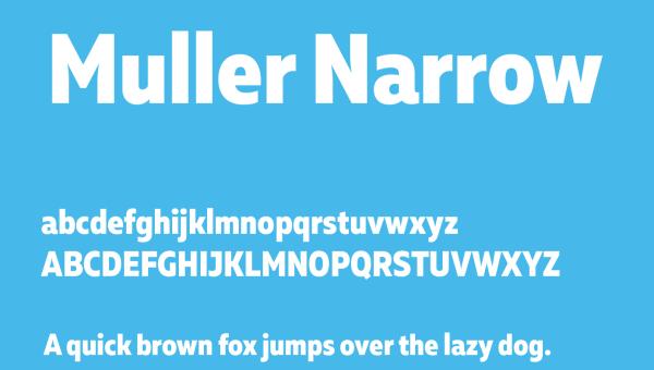 Muller Narrow Font Free Download