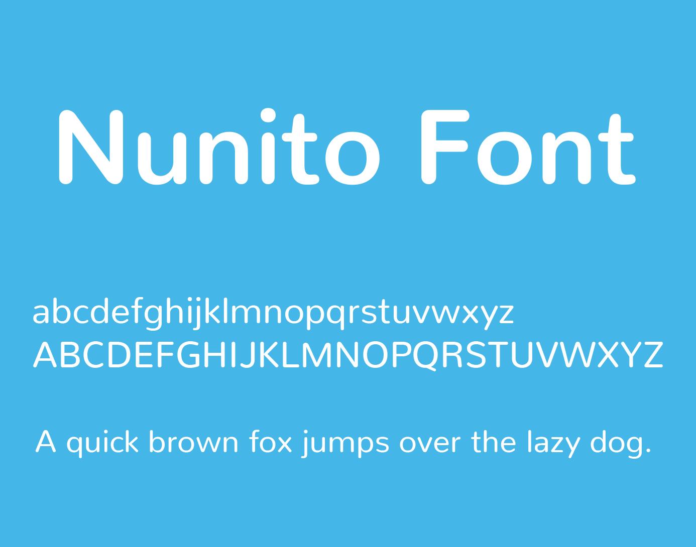 nunito-font