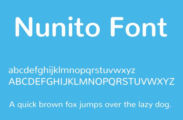 Nunito Font Family Free Download