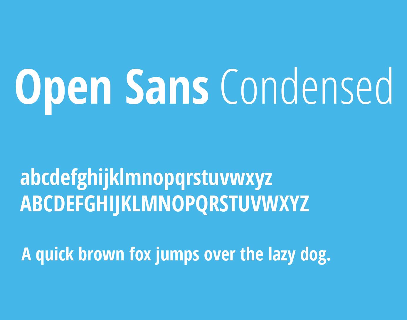 open-sans-condensed-font