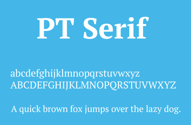 PT Serif Font Free Download