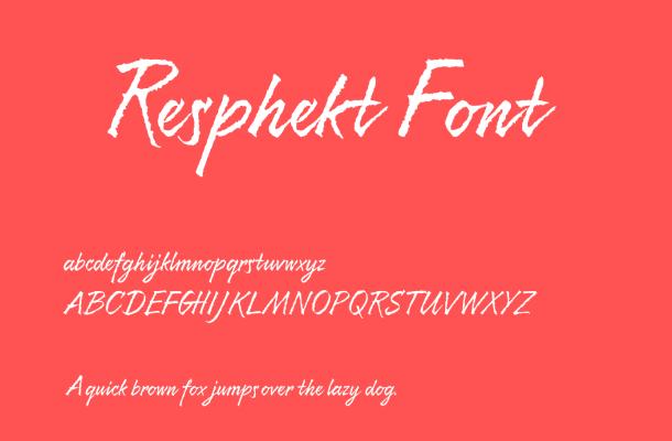 Resphekt Font Free Download