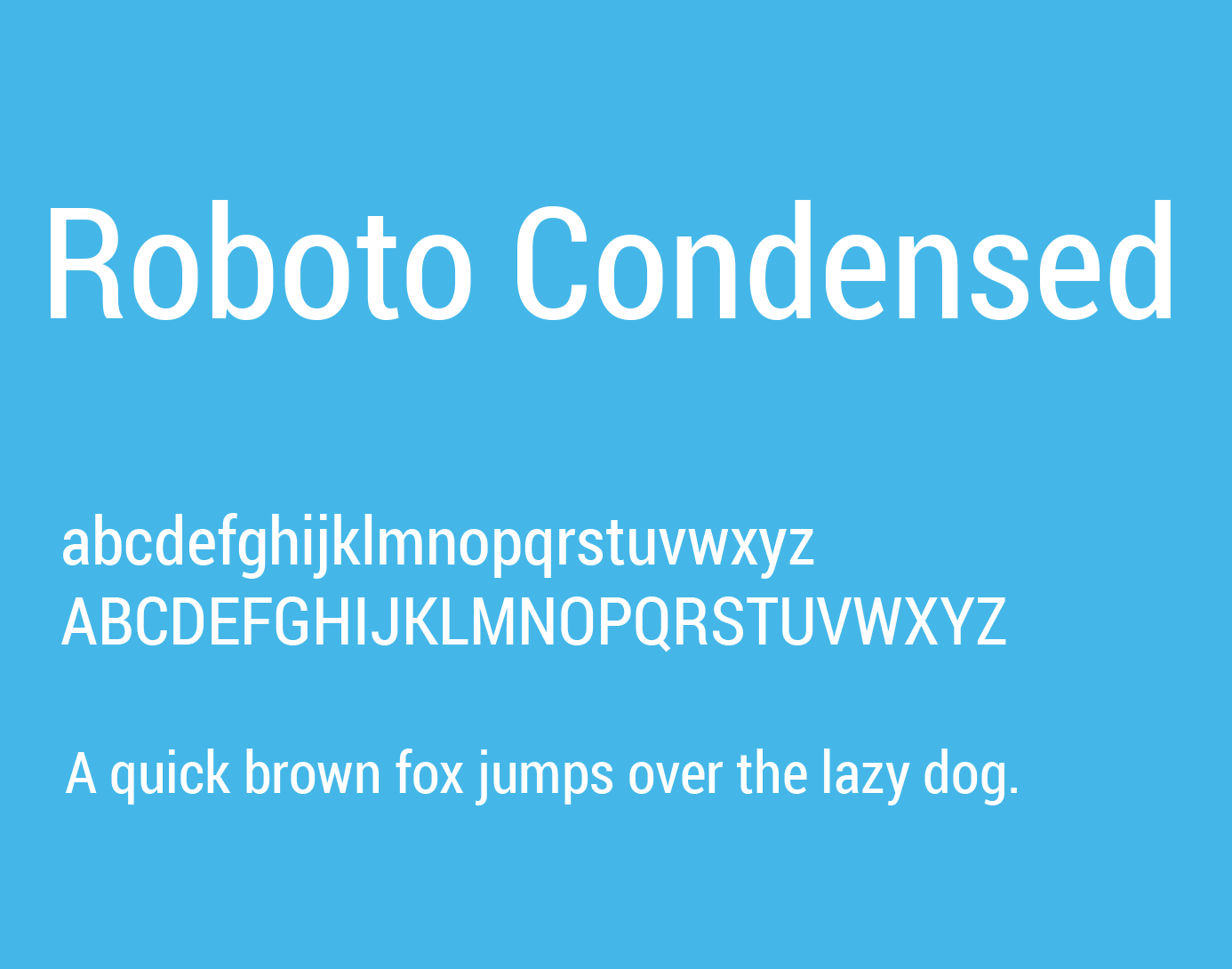 Roboto Condensed Font Free Download - Free Fonts