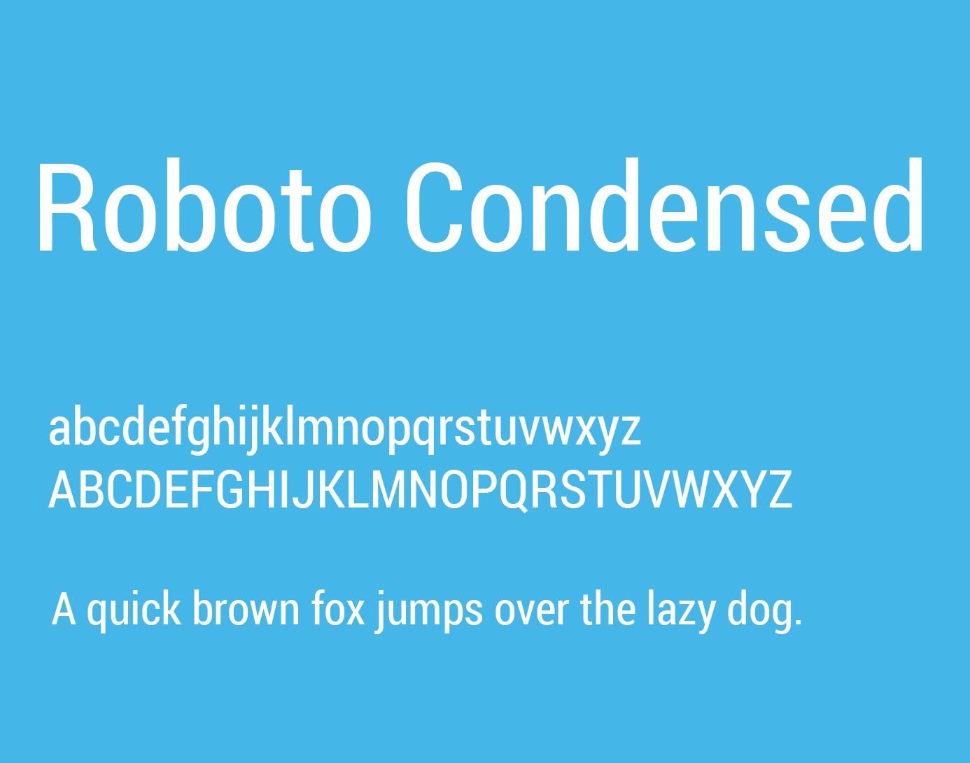 roboto-condensed-font