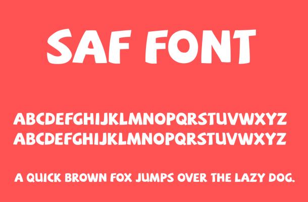 SAF Font Free Download