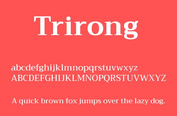 Trirong Font Free Download
