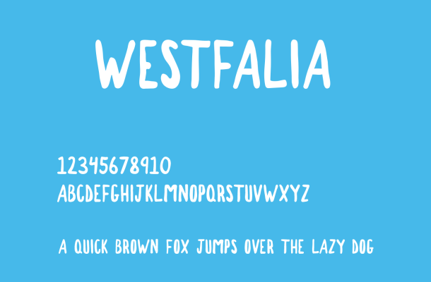 Westfalia Font Free Download