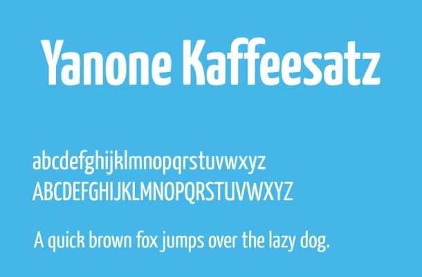 Yanone Kaffeesatz Font Free Download
