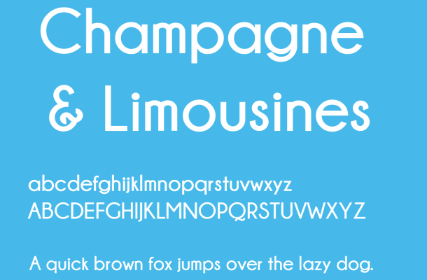 Champagne & Limousines Font Free Download
